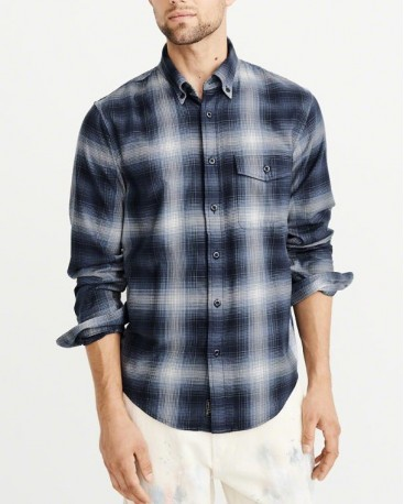 STRETCH PLAID SHIRT